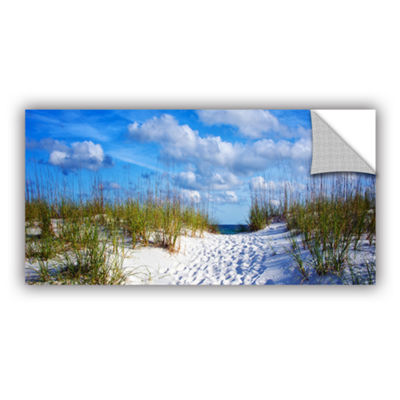 Brushstone Pathway In The Sand Removable Wall Decal