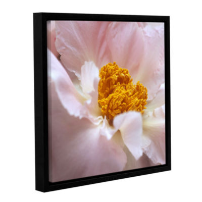Brushstone Pastel Peony Gallery Wrapped Floater-Framed Canvas Wall Art