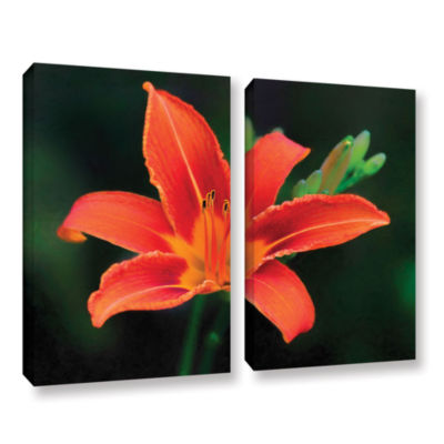 Brushstone Petals In Focus 2-pc. Gallery Wrapped Canvas Wall Art