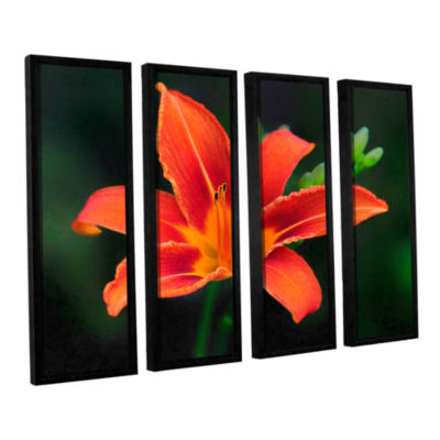 Brushstone Petals In Focus 4-pc. Floater Framed Canvas Wall Art