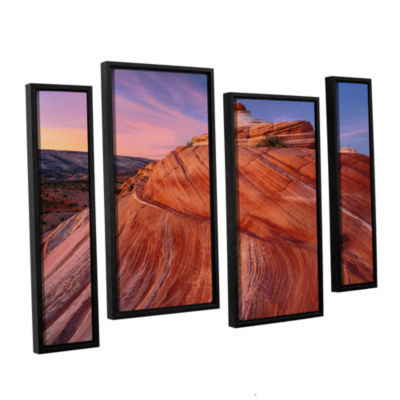 Brushstone Paria Wilderness 4-pc. Floater Framed Staggered Canvas Wall Art