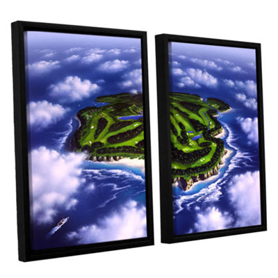 Brushstone Paradise Island 2-pc. Floater Framed Canvas Wall Art