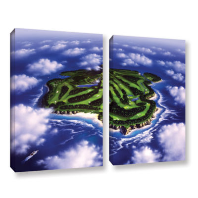 Brushstone Paradise Island 2-pc. Gallery Wrapped Canvas Wall Art