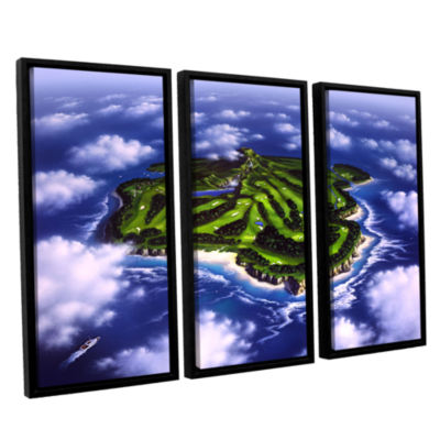 Brushstone Paradise Island 3-pc. Floater Framed Canvas Wall Art