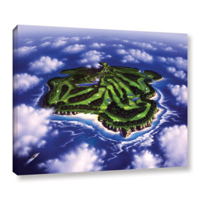 Brushstone Paradise Island Gallery Wrapped CanvasWall Art
