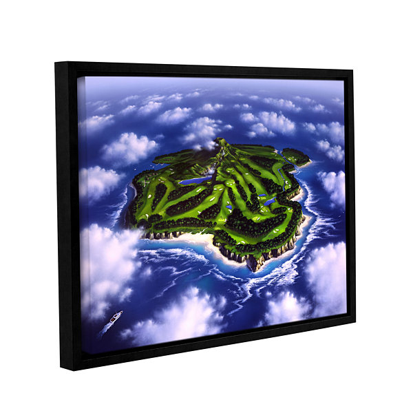 Brushstone Paradise Island Gallery Wrapped Floater-Framed Canvas Wall Art