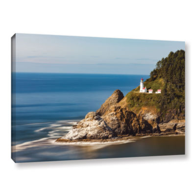 Brushstone Oregon Lighthouse Gallery Wrapped Canvas Wall Art