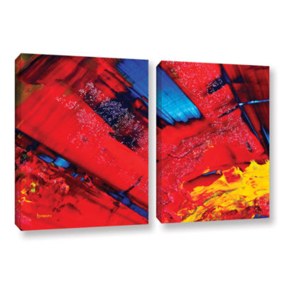 Brushstone Passionate Explosion 2-pc. Gallery Wrapped Canvas Wall Art