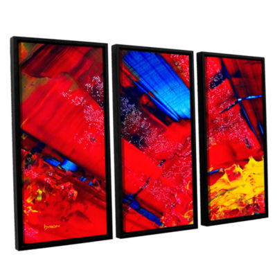 Brushstone Passionate Explosion 3-pc. Floater Framed Canvas Wall Art
