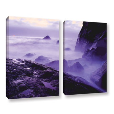 Brushstone Patricks Point Sunset 2-pc. Gallery Wrapped Canvas Wall Art
