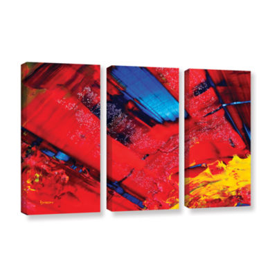 Brushstone Passionate Explosion 3-pc. Gallery Wrapped Canvas Wall Art