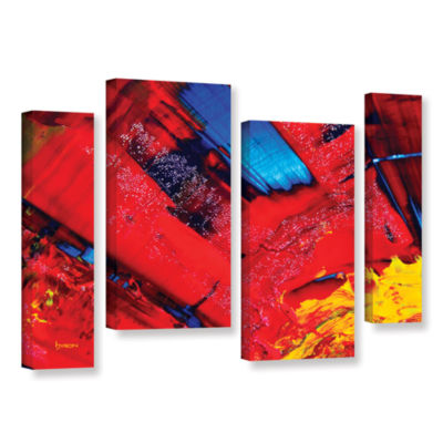 Brushstone Passionate Explosion 4-pc. Gallery Wrapped Staggered Canvas Wall Art