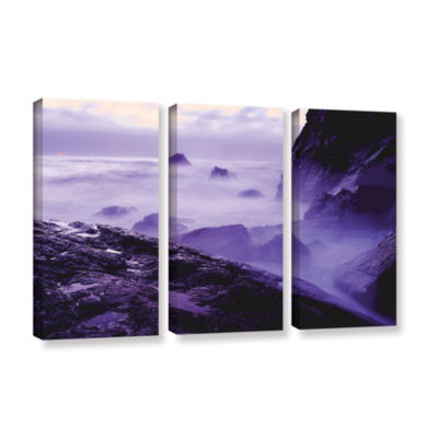 Brushstone Patricks Point Sunset 3-pc. Gallery Wrapped Canvas Wall Art