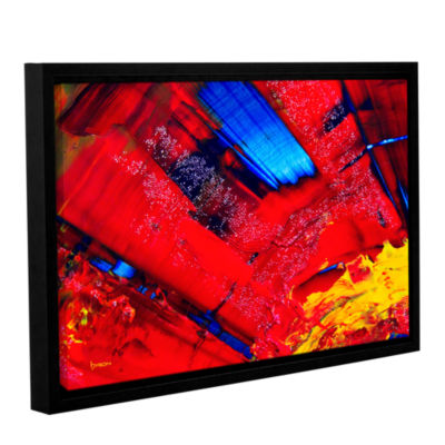 Brushstone Passionate Explosion Gallery Wrapped Floater-Framed Canvas Wall Art