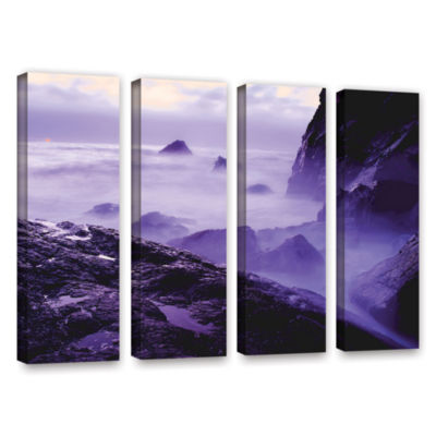 Brushstone Patricks Point Sunset 4-pc. Gallery Wrapped Canvas Wall Art