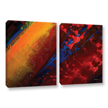 Brushstone Out From The Depth 2-pc. Gallery Wrapped Canvas Wall Art