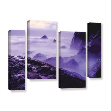 Brushstone Patricks Point Sunset 4-pc. Gallery Wrapped Staggered Canvas Wall Art