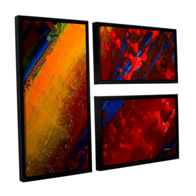 Brushstone Out From The Depth 3-pc. Flag Floater Framed Canvas Wall Art