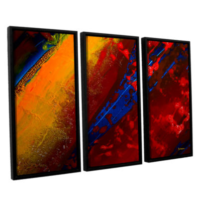 Brushstone Out From The Depth 3-pc. Floater FramedCanvas Wall Art