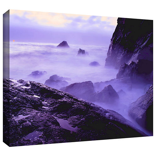 Brushstone Patricks Point Sunset Gallery Wrapped Canvas Wall Art