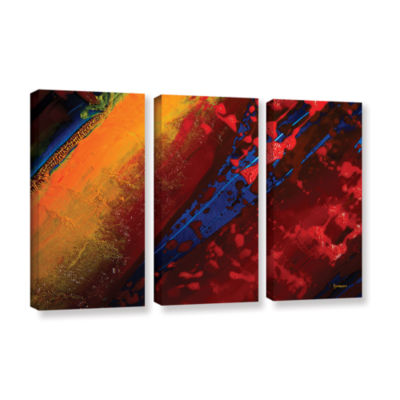 Brushstone Out From The Depth 3-pc. Gallery Wrapped Canvas Wall Art