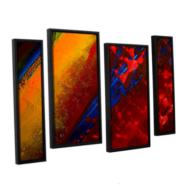 Brushstone Out From The Depth 4-pc. Floater FramedStaggered Canvas Wall Art