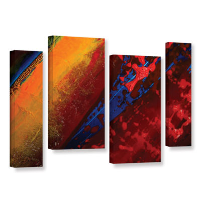 Brushstone Out From The Depth 4-pc. Gallery Wrapped Staggered Canvas Wall Art