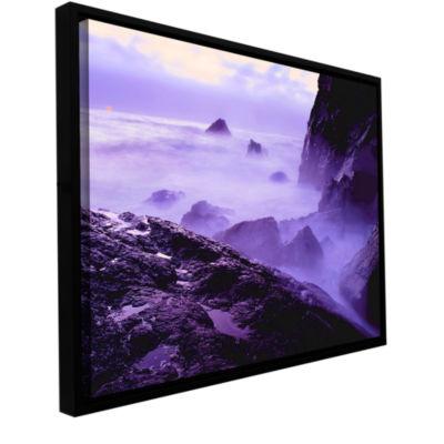 Brushstone Patricks Point Sunset Gallery Wrapped Floater-Framed Canvas Wall Art