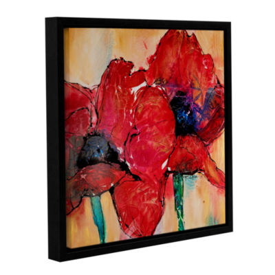 Brushstone Passion Gallery Wrapped Floater-FramedCanvas Wall Art