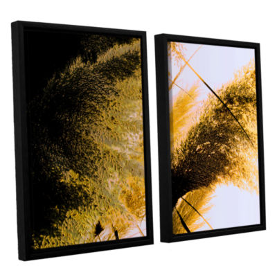 Brushstone Pampas In Relief 2-pc. Floater Framed Canvas Wall Art