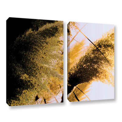 Brushstone Pampas In Relief 2-pc. Gallery WrappedCanvas Wall Art