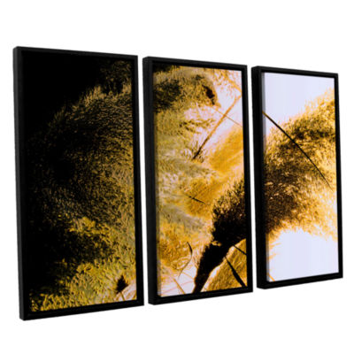 Brushstone Pampas In Relief 3-pc. Floater Framed Canvas Wall Art