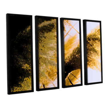 Brushstone Pampas In Relief 4-pc. Floater Framed Canvas Wall Art
