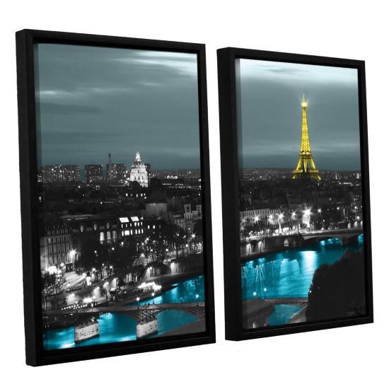 Brushstone Paris 2-pc. Floater Framed Canvas WallArt
