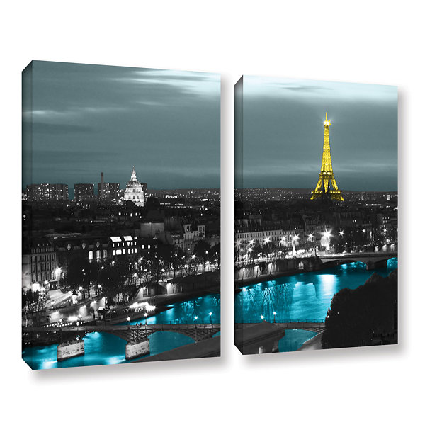 Brushstone Paris 2-pc. Gallery Wrapped Canvas WallArt