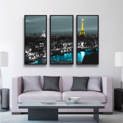 Brushstone Paris 3-pc. Floater Framed Canvas WallArt