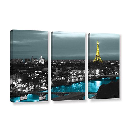 Brushstone Paris 3-pc. Gallery Wrapped Canvas WallArt