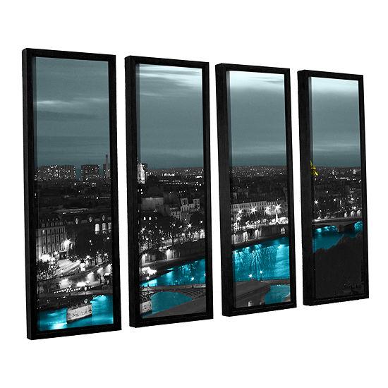 Brushstone Paris 4-pc. Floater Framed Canvas WallArt