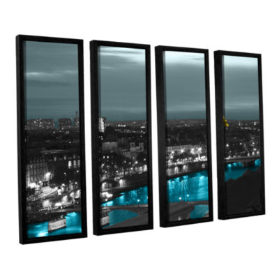 Brushstone Paris 4-pc. Floater Framed Canvas WallArt