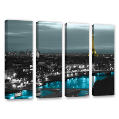 Brushstone Paris 4-pc. Gallery Wrapped Canvas WallArt