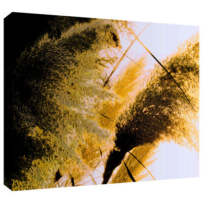 Brushstone Pampas In Relief Gallery Wrapped CanvasWall Art