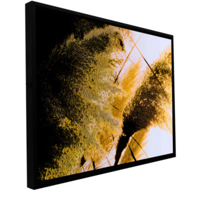 Brushstone Pampas In Relief Gallery Wrapped Floater-Framed Canvas Wall Art