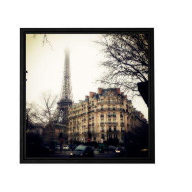 Brushstone Paris Vintage Gallery Wrapped Floater-Framed Canvas Wall Art
