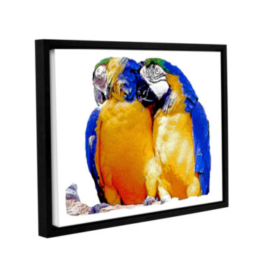 Brushstone Parrot Passion 1 Gallery Wrapped Floater-Framed Canvas Wall Art
