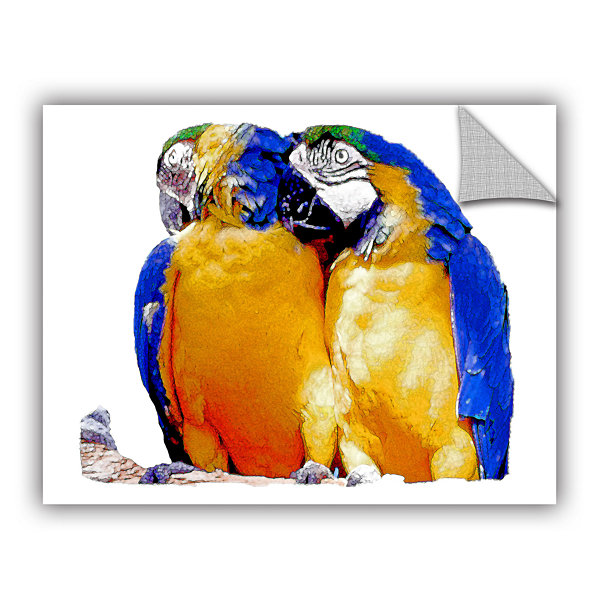 Brushstone Parrot Passion 1 Removable Wall Decal
