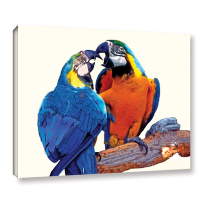 Brushstone Parrot Passion 2 Gallery Wrapped CanvasWall Art