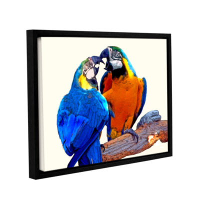 Brushstone Parrot Passion 2 Gallery Wrapped Floater-Framed Canvas Wall Art