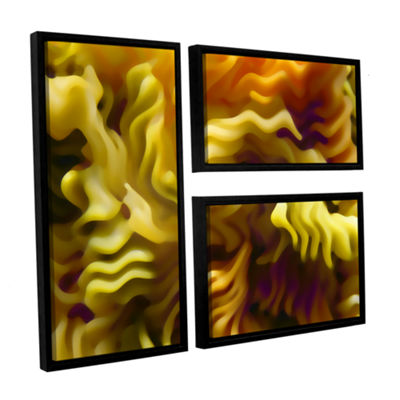 Brushstone Pasta Wave 3-pc. Flag Floater Framed Canvas Wall Art