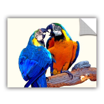 Brushstone Parrot Passion 2 Removable Wall Decal