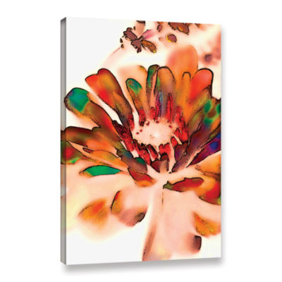 Brushstone Petals In Abstract Gallery Wrapped Canvas Wall Art
